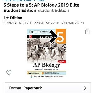 5 Step to a 5 AP biology test and study book
